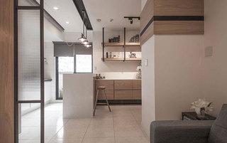现代简约风格三居室60平米效果图