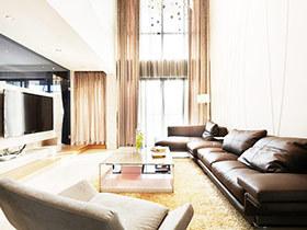 暖咖色简约宜家风复式装修 有爱的空间就是家