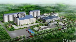 工业厂房3D效果图