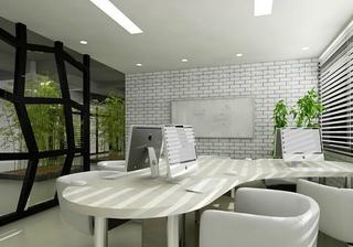 现代简约写字楼办公区装修效果图