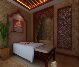 中式风格美容养生馆装修设计