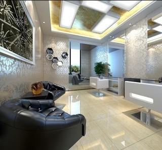 美发店室内休闲空间装饰设计图片