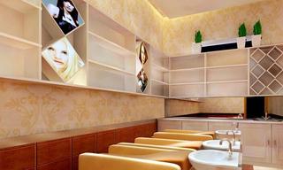 时尚美发店室内洗头间设计图片