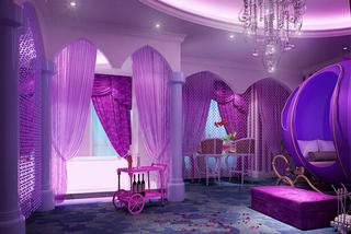 宾馆紫色装饰室内设计图片