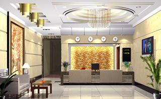宾馆室内大堂设计效果图