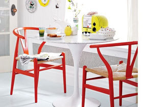 热情红色餐椅 15款活力餐厅效果图