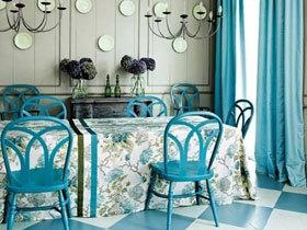 活色生香 15款纯色餐厅窗帘设计