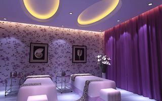 美容店装修设计 紫色浪漫