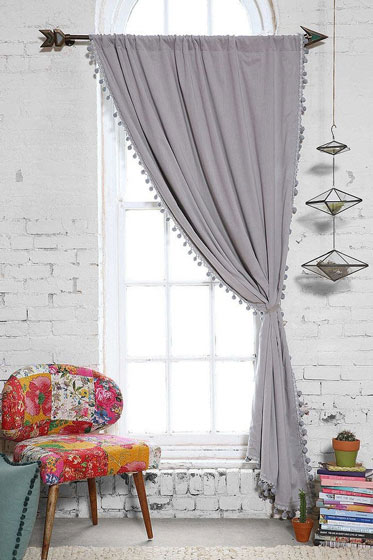灰色质感窗帘效果图