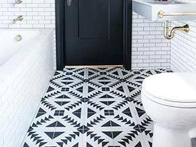 12个卫浴间地砖瓷砖效果图 时尚无死角
