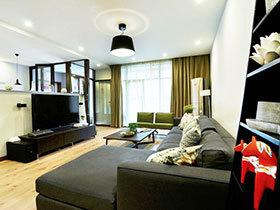100平三居室装修 黑色掉彰显稳重感