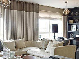 私密加倍 10个客厅双层窗帘设计