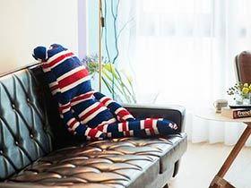 甜蜜二人空间 83平米原木色温馨家