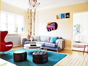 暖色调北欧设计 75平米温馨家居