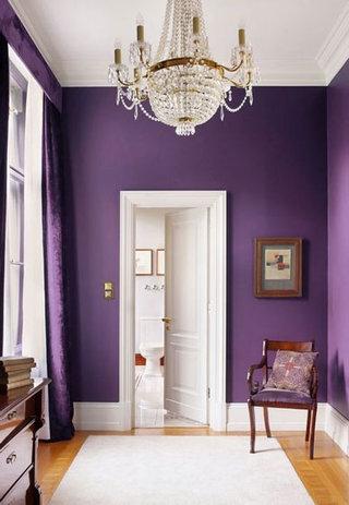 梦幻紫色背景墙效果图