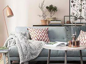 你家够暖吗? 12个沙发毛毯搭配暖客厅