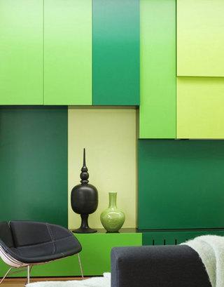简约风格公寓绿色设计图