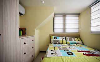 嫩绿色儿童房装修图片