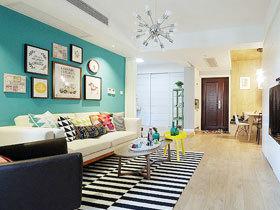 清新两居室装修  这套两居室混搭的很成功