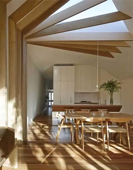 创意木质餐厅吊顶效果图