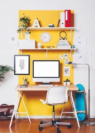 书房黄色系效果图片