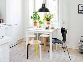 再小也要有餐桌 10个小户型实木餐桌图片
