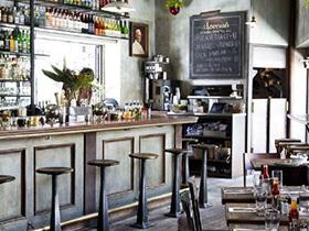 工业复古风西餐厅装修设计图