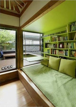 绿色书房吊顶图