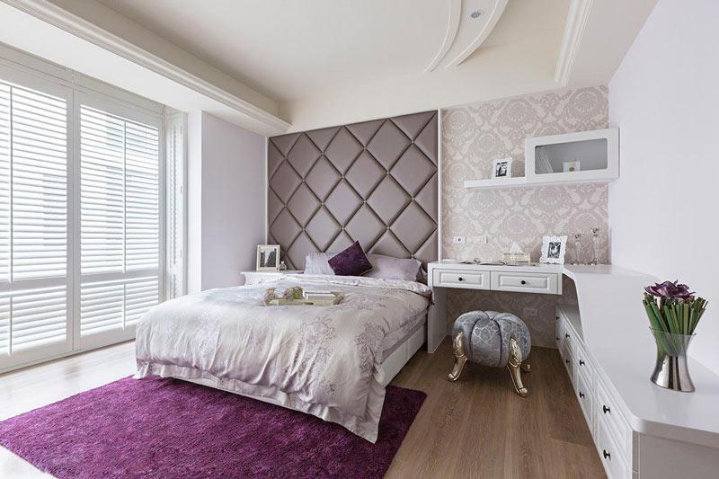 浪漫优雅紫色卧室装修效果图