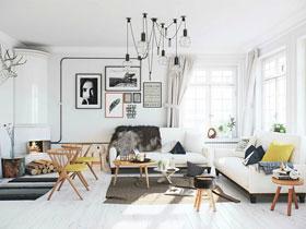北欧气质单身公寓 60平米一室一厅装修
