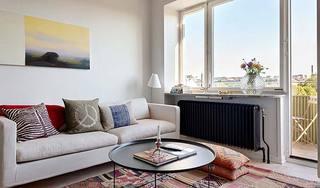 简约风客厅米色沙发效果图