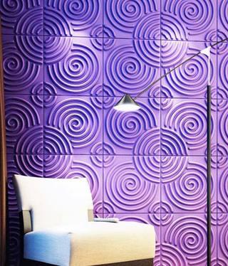 紫色创意背景墙装修图片