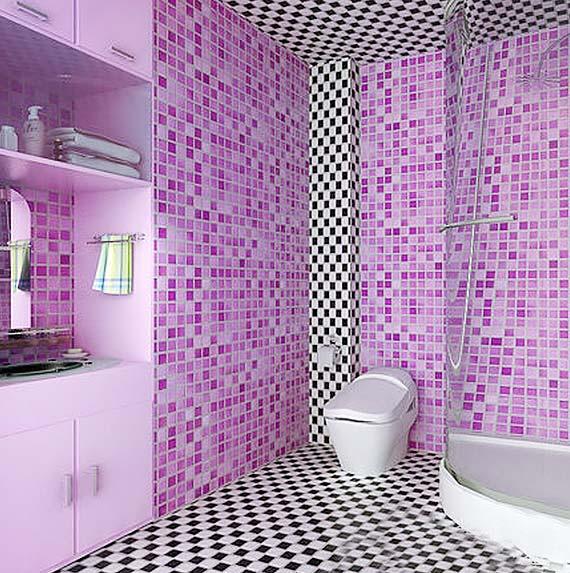 紫色系卫生间装修装饰效果图