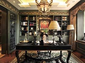 满墙书香气  10款复古书房装饰效果图