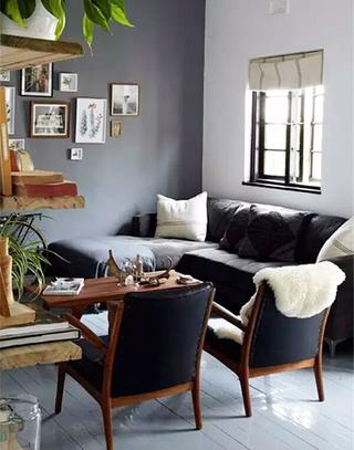 灰色客厅装修效果图