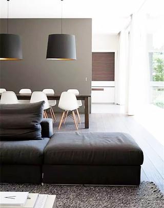 极简主义灰色客厅装修