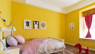 明黄色简约风儿童房设计图