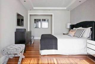 灰色系卧室装修装饰效果图