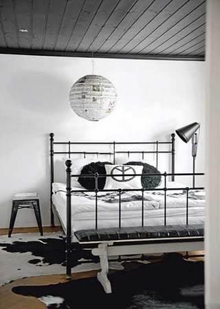 灰色系卧室设计实景图
