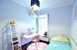 清新淡紫色美式儿童房装修大全