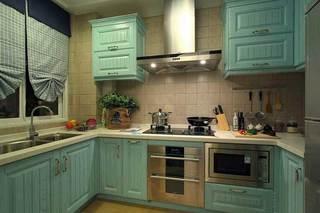 清新湖绿色地中海风情厨房设计