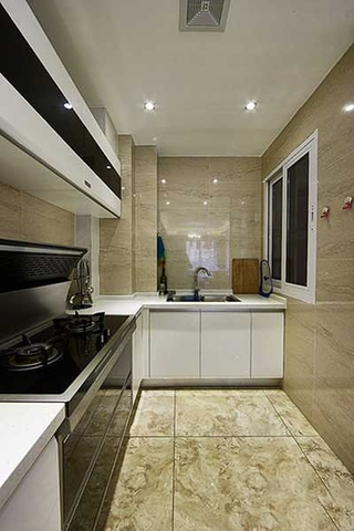 130平简约风装修简约厨房设计