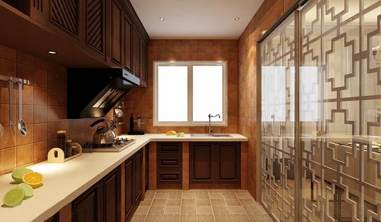 中式厨房装修效果图片