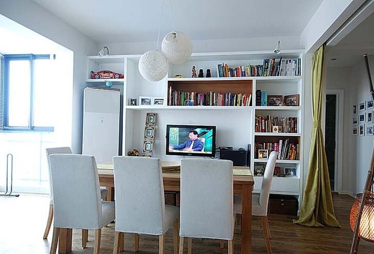 简约宜家餐厅电视收纳柜设计