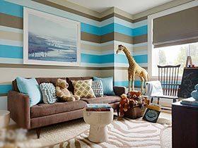 别出心裁之墙  10图客厅壁纸装修实景图