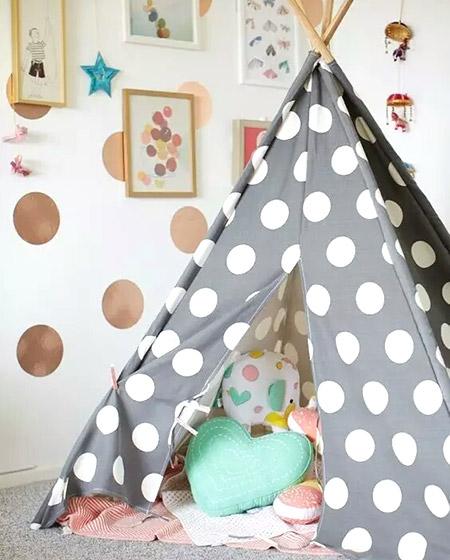 可爱儿童房游戏帐篷效果图