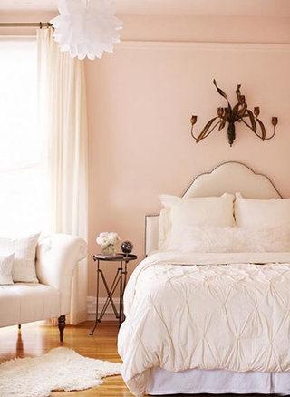 粉色系卧室设计构造图
