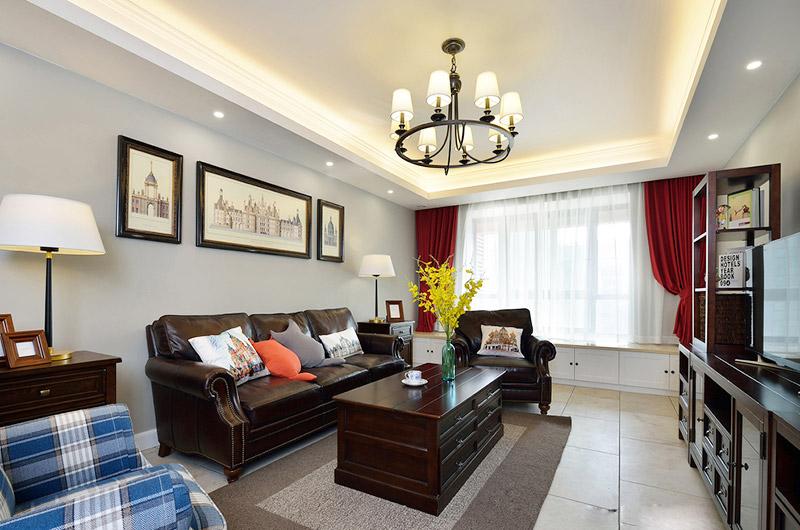 复古美式客厅装潢大全