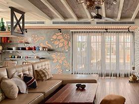 乡村美式公寓装修  每一处都充满草木香