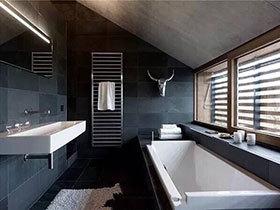 男士该有空间  10个黑色系卫生间装饰图片